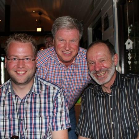 Benedikt Büdenbender, Wolfgang Decker und Brumo Glomski auf dem Sommerfest