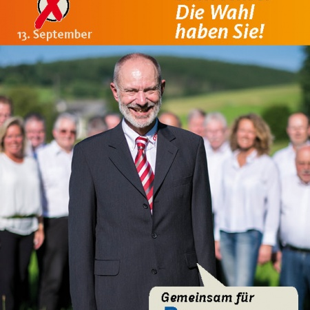 Wahlplakat unseres Kandidaten