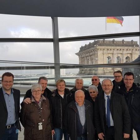 Besichtigung des Reichstagsgebäudes in Berlin